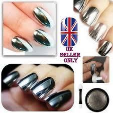 sale mirror chrome effect nail powder no polish foil nails art