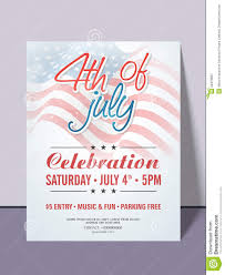 Invitation Card Stock American Independence Day Invitation Card Stock Illustration
