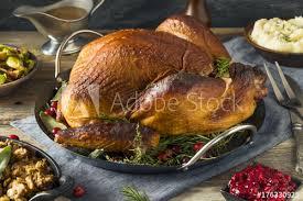 organic smoked turkey dinner for thanksgiving image