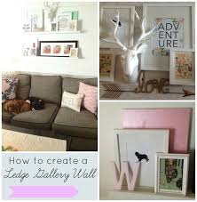 Ribba Picture Ledge How To Create A Ledge Gallery Wall At Home With Ashley