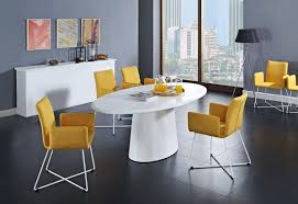 brown leather dining chairs colorful modern dining room white