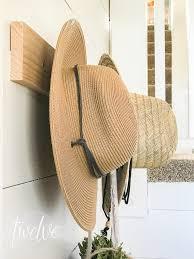 diy peg coat and hat rack twelve on main