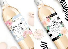 will you be my bridesmaid wine labels will you be my bridesmaid 18 lovely gift ideas for your