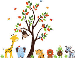 Best Nursery Ideas Images On Pinterest Nursery Wall Decals - Animal wall stickers for kids rooms