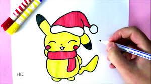 comment dessiner pikachu pour noël dessin facile youtube