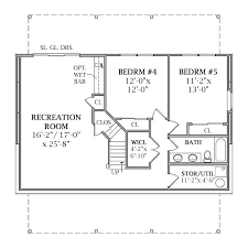 house plans with daylight basements one house plans with basement one floor plans basements