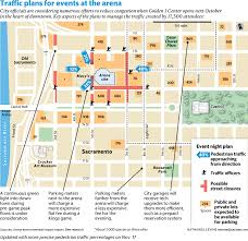 Map Of Sacramento Sacramento Seeks To Ease The Way For Fans When Downtown Arena