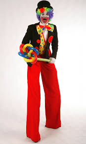clown stilts circus clown stilt walker balloon modeller flaming event