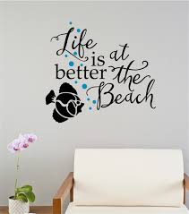 life is better at the beach fish vinyl decal wall stickers letters