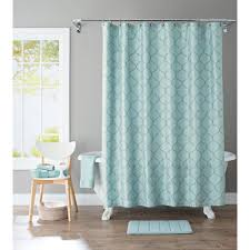 Aqua Blue Shower Curtains Better Homes And Gardens Scalloped Trellis Embroidered Fabric