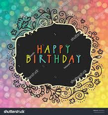 happy birthday party vector doodle hand stock vector 309298094