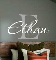 Baby Boy Nursery Decals Personalized Monogram Kids Wall Decals Boys Wall Decal Name