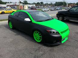 monster green plasti dip custom creation by gearheadbuilt com