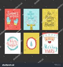 big collection handdrawn new year stock vector 486812077