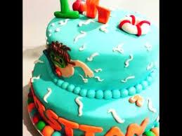 1st birthday pool party cake youtube