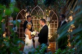 an evening garden wedding at viva las vegas wedding chapel viva