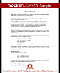 business proposal templates examples sample business proposal