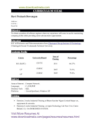 Resume Format For Mba Finance Freshers Pdf Resume Example For Freshers Engineers Pdf Resume Ixiplay Free