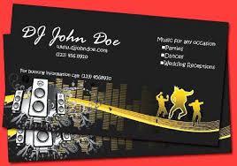 surprising dj business cards templates free standard card size 6