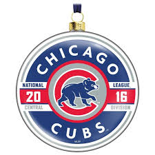 mlb chicago cubs glass ornament keepsake ornaments hallmark