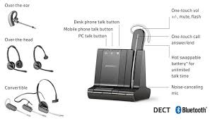 Bluetooth Headset For Desk Phone Plantronics Headsets