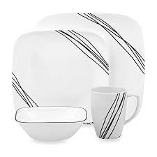 corelle simple sketch 16 piece dinnerware set bed bath u0026 beyond