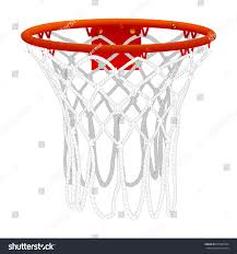 basketball hoop isolated on white color stock vector 635303564