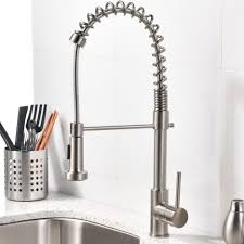 Modern Kitchen Faucet by Brushed Nickel Single Handle Kitchen Faucets With Stainless Steel