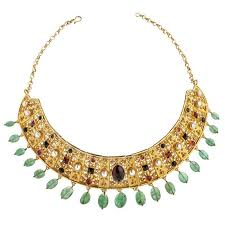 collar gold necklace images Alexandria byzantine collar necklace with gemstones gold jewelry jpg