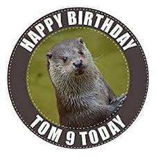 otter cake topper otter cake topper 7 5 inch personalised edible on icing sheet with