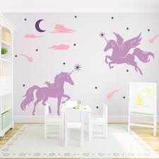 magical unicorns wall decal