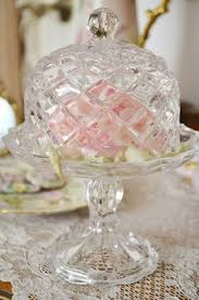 Crystal Pedestal Cake Stand Antique Victorian Eapg Glass Etched Pedestal Cake Stand