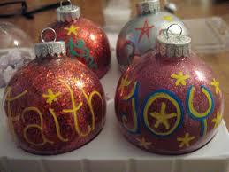 diy glitter ornaments make something mondays