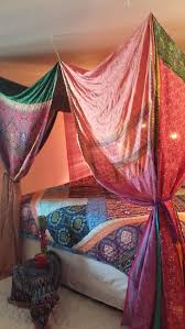 Boho Bed Canopy Bed Canopy Dreaming In Pinks Hippiewild Boho Decor Pink Green Made