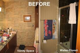 Cheap Diy Bathroom Renovations Remodelaholic Dramatic Bathroom Makeover 70s Bathroom Remodel