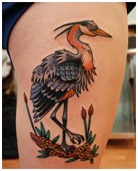 great blue heron traditional tattoos minneapolis mn