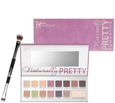 it cosmetics the romantics naturally pretty matte palette w brush