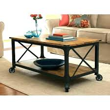 round coffee table with casters casters for coffee table industrial reclaimed wood coffee table with