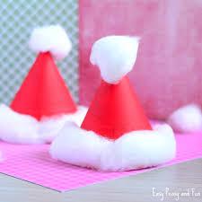 santa hats paper plate santa hats craft christmas crafts for kids easy