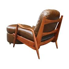 phillip lloyd powell lounge chair and round ottoman c 1960 todd