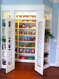 hypnotic corner kitchen pantry design with adjustable wooden