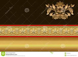 Crown Business Cards Business Card Template Golden Background Royalty Free Stock