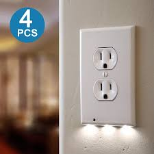 wall plug night light night light wall outlet duplex cover outlet covers with led lights