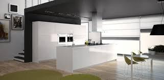 cuisine blanche laqué cuisine blanc laque et gris moderne newsindo co