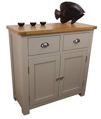 Slim Sideboards Classically Modern Dorset French Grey Painted Oak Pine 2 Door Slim