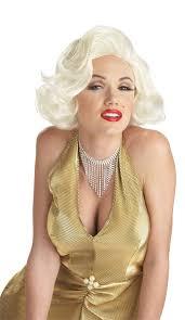 Blonde Wig Halloween Costume 1950 U0027s Womens Classic Marilyn Monroe White Blonde Wig 1950 U0027s