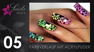 farbverlauf mit acrylpuder nailart leicht gemalt saida nails