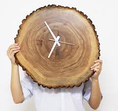 clock 11 12 inches wall clock natural wood wall clock decor and