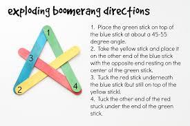 craft stick exploding boomerangs i can teach my child