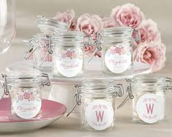 unique bridal shower favors personalized glass favor jars kate s rustic bridal shower